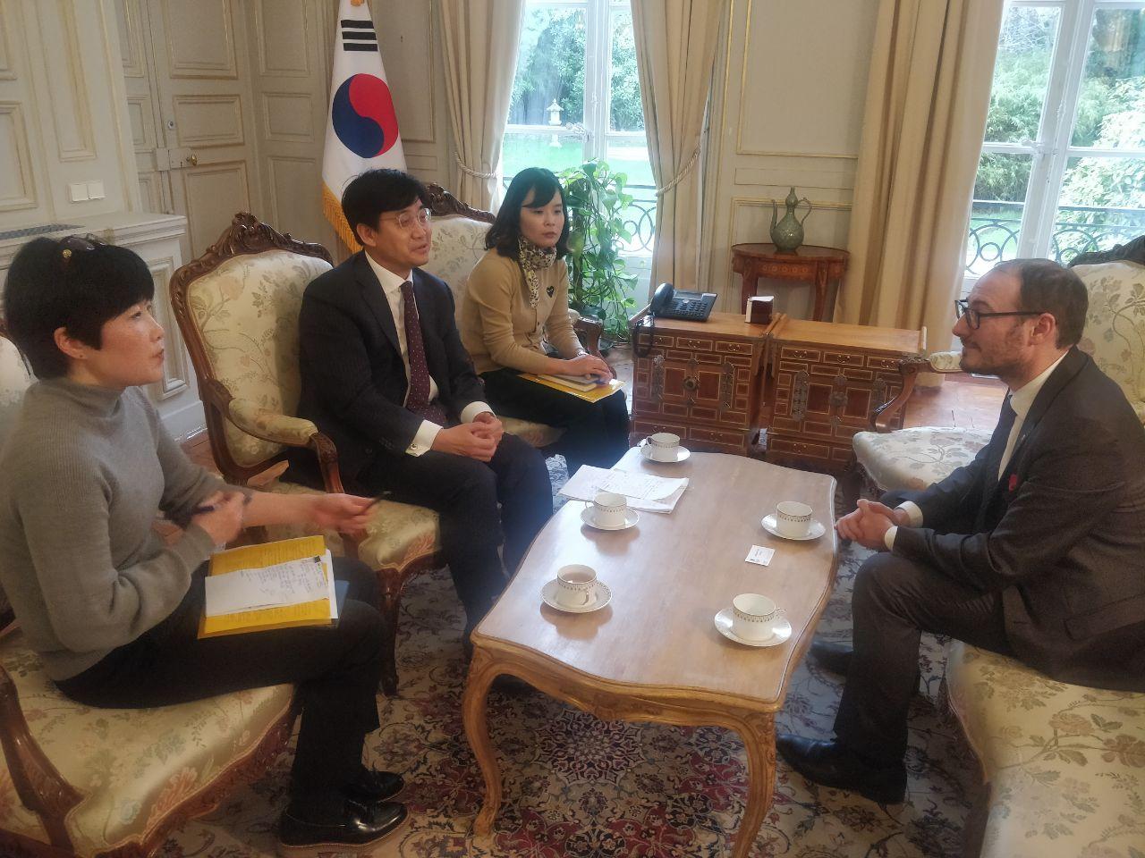 Rencontre avec l'Ambassadeur de Corée du Sud